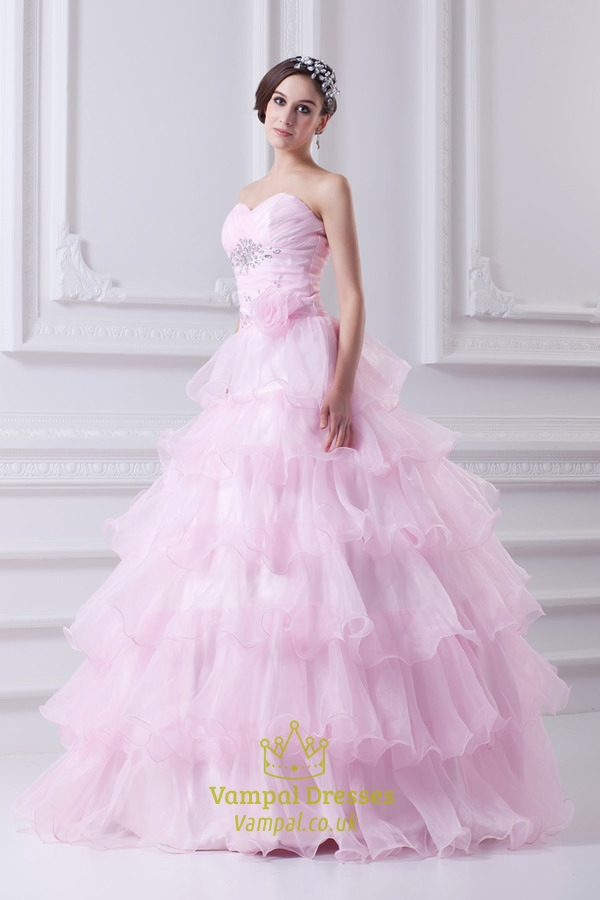 0c98809b301e Light Pink Quinceanera Dresses 2019,Pink Ball Gown Prom Dresses For Girls