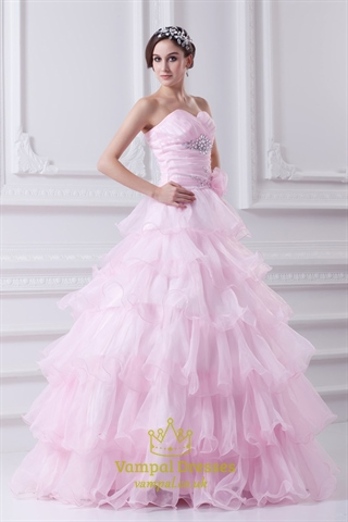 Light Pink Quinceanera Dresses 2016 Pink Ball Gown Prom