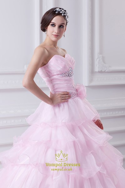 Light Pink Quinceanera Dresses 2021,Pink Ball Gown Prom Dresses For Girls