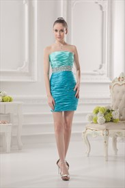 Aqua Blue Dresses For Girls,Short Aqua Blue Dresses For Juniors