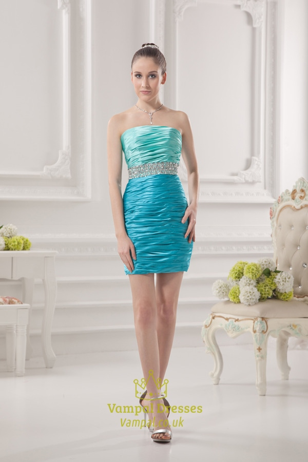 Aqua Blue Dresses For Girls,Short Aqua Blue Dresses For Juniors