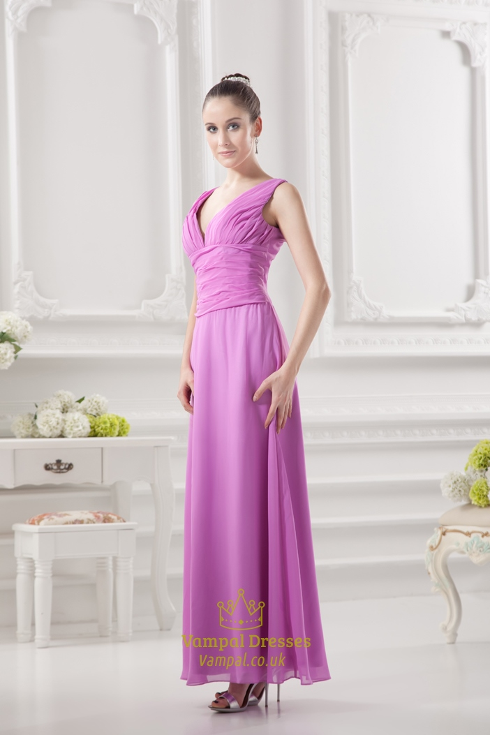 light gowns dress purple bridesmaid ruching vanessawu chiffon dresses detail a brid style long products with new line v halter neck collections