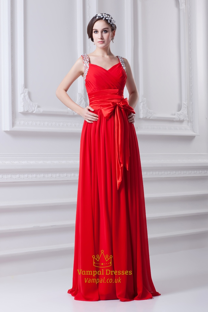 Red Prom Dresses With Sequins Straps,Red Prom Dresses Open Back