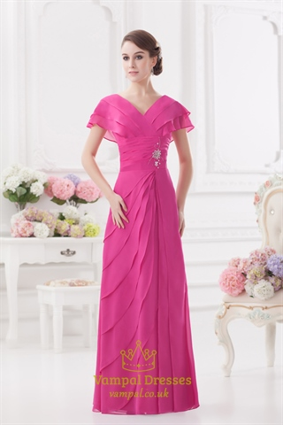 Hot Pink Mother Of The Bride Dresses Pink Prom Dresses