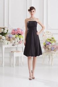 Short Black Homecoming Dresses,Black Bubble Dress