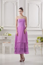 Short Light Purple Bridesmaids Dresses,Short Dresses With Ruffles Bottom