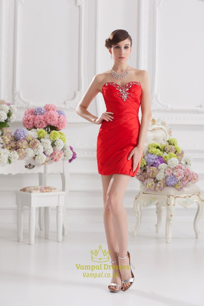 Red Sweet 16 Dresses Short,Short Red Sweetheart Prom Dress | Vampal ...