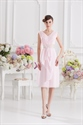 Light Pink Bridesmaid Dresses With Cap Sleeves,Short Light Pink Dresses For Juniors
