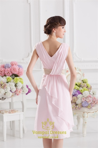 Pink Bridesmaid Dress With Sleeves