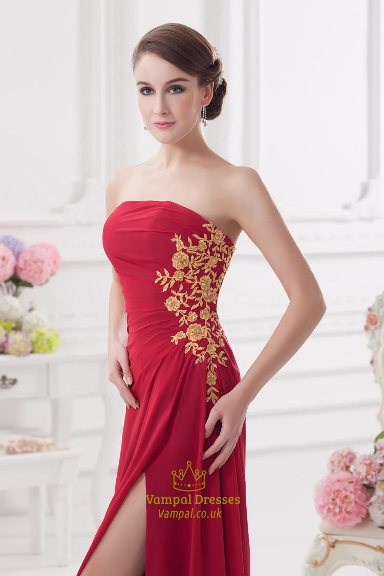 Prom Dresses With Slits Uk 17