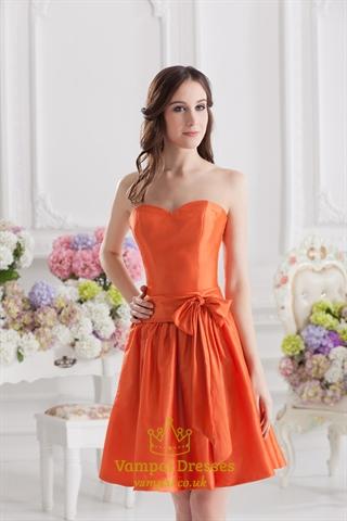 Short Orange Bridesmaid Dresses 106
