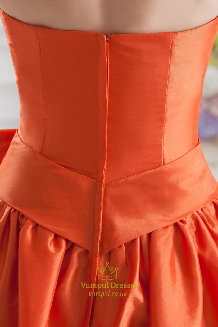 Short Orange Bridesmaid Dresses 7