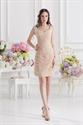 Short Champagne Colored Prom Dresses,Champagne Short Formal Dresses