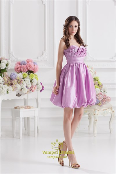 Lilac Cocktail Dresses For Women,Short Purple Dresses For Teenagers