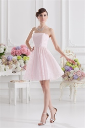Short Light Pink Dresses For Juniors,Light Pink Short Party Dresses