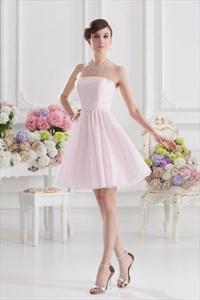 Short Light Pink Dresses For Juniors,Light Pink Short Party Dresses