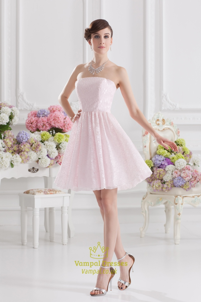 Short Light Pink Dresses For JuniorsLight Party