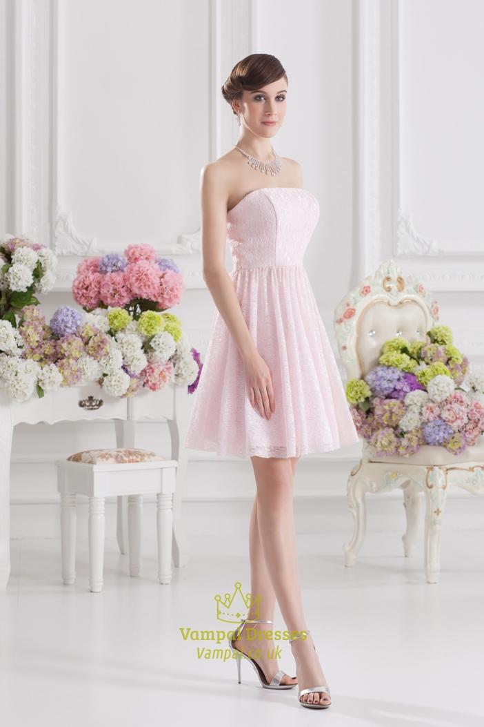 Pink Dressers For Girls Bedroom Set: Short Light Pink Dresses For Juniors,Light Pink Short