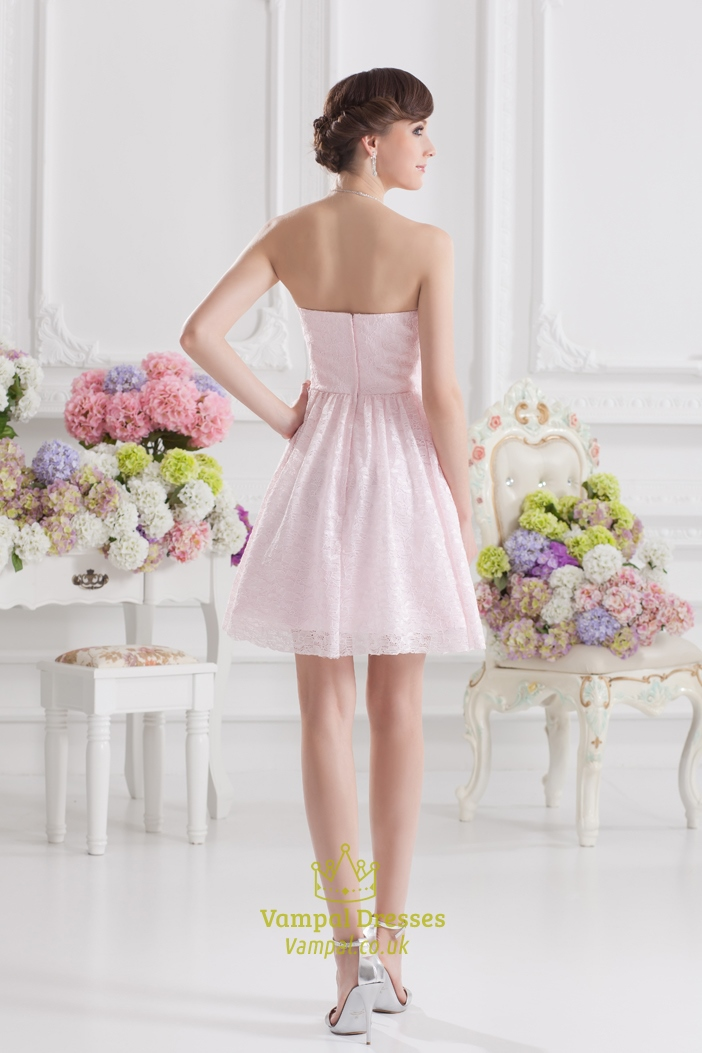 Short Pink Party Dresses 68