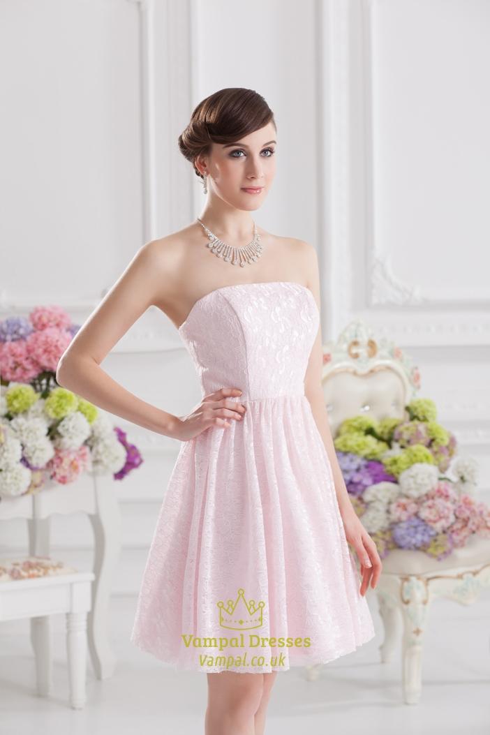 Short Light Pink Dresses For Juniors Light Pink Short