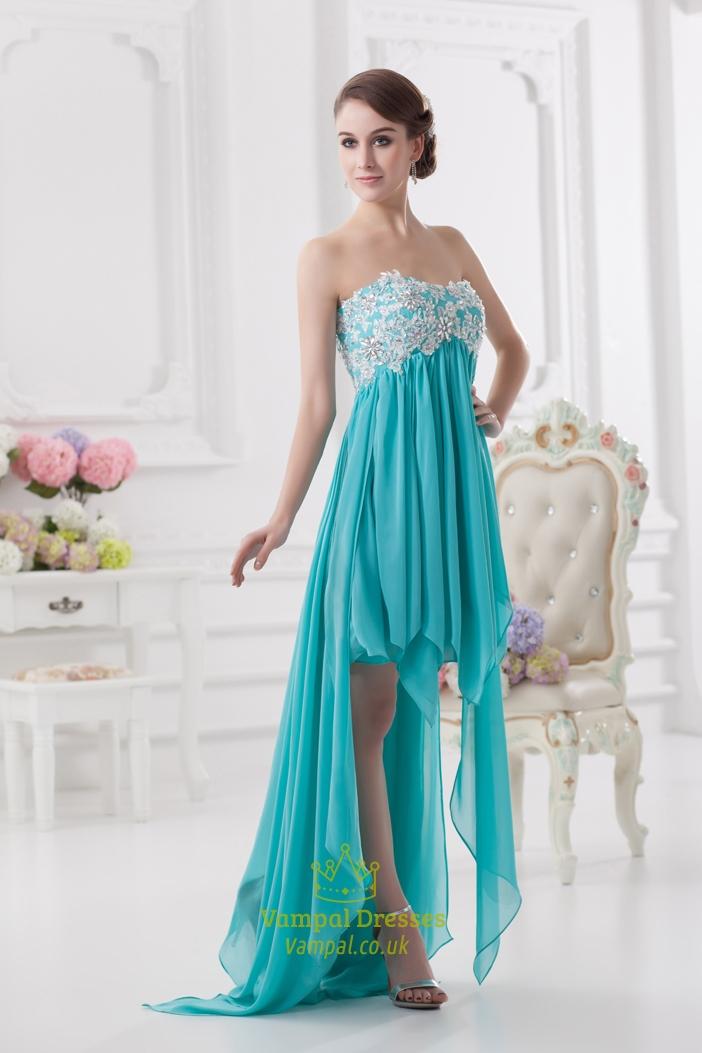Blue High Low Prom Dresses 2016 High Low Dresses Formal