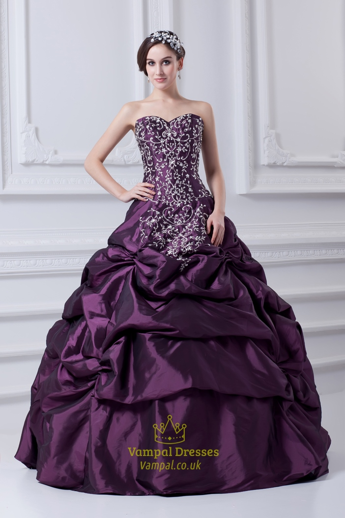 Quinceanera Dresses Purple And White Pueple Quinceanera