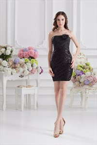 Little Black Dress For New Years Eve,Black Mini Dress With Open Scoop Back
