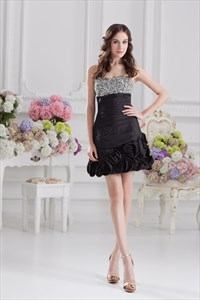 Little Black Sequin Cocktail Dresses,Black Dress With Sequins On Top