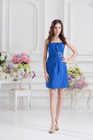 Cobalt Blue Short Prom Dresses,Cobalt Blue Dresses With Straps