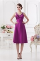 Short Purple Dresses For Teenagers With Open Back And Straps,Short Violet Prom Dresses
