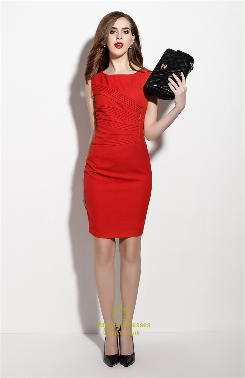 Red Sheath Dress Outfit