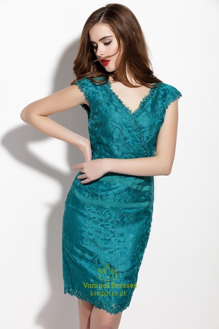 Long Sleeve Lace Prom Dress