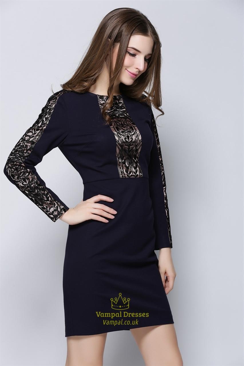 womens casual dark purple embroidered long sleeve dress