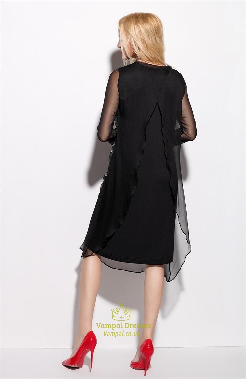 Short Sleeve Black Dress