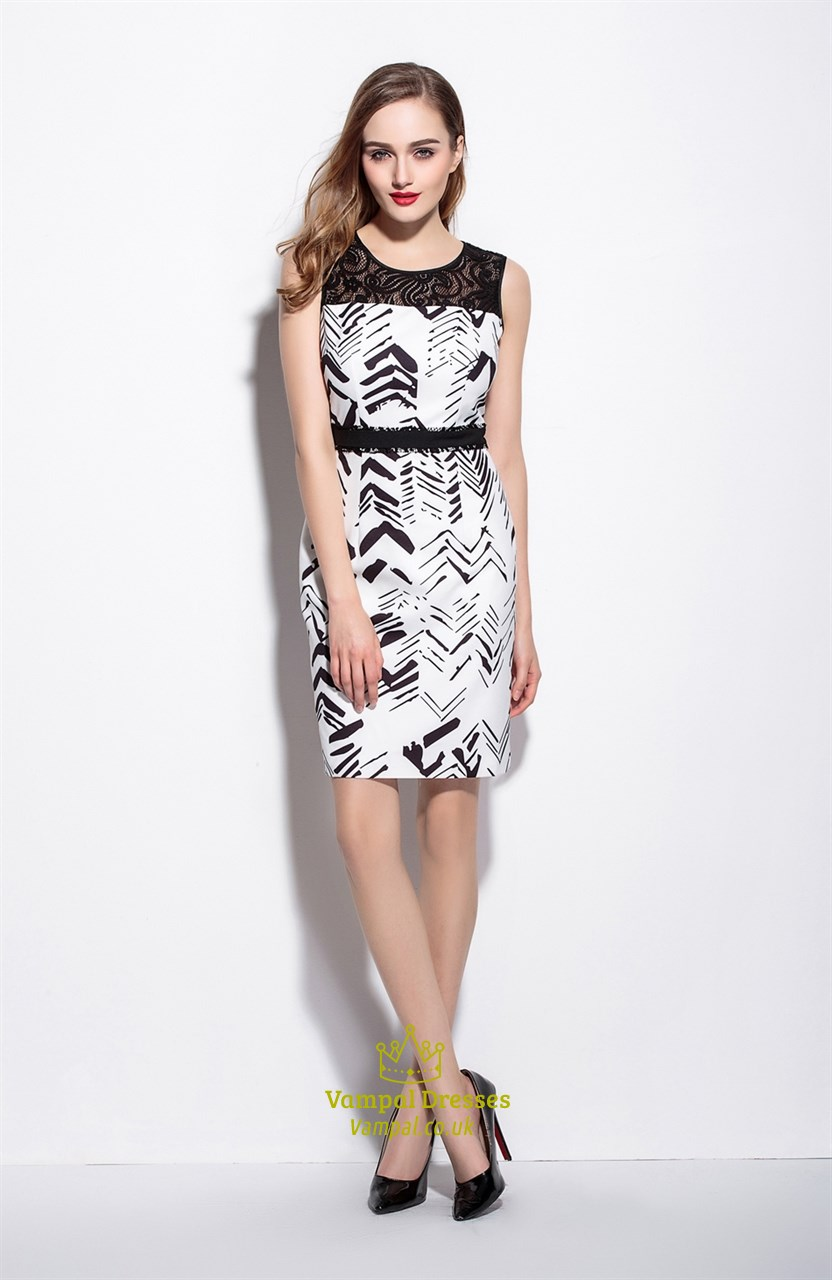 1e10eb9b946 Black And White Floral Print Dresses - Data Dynamic AG