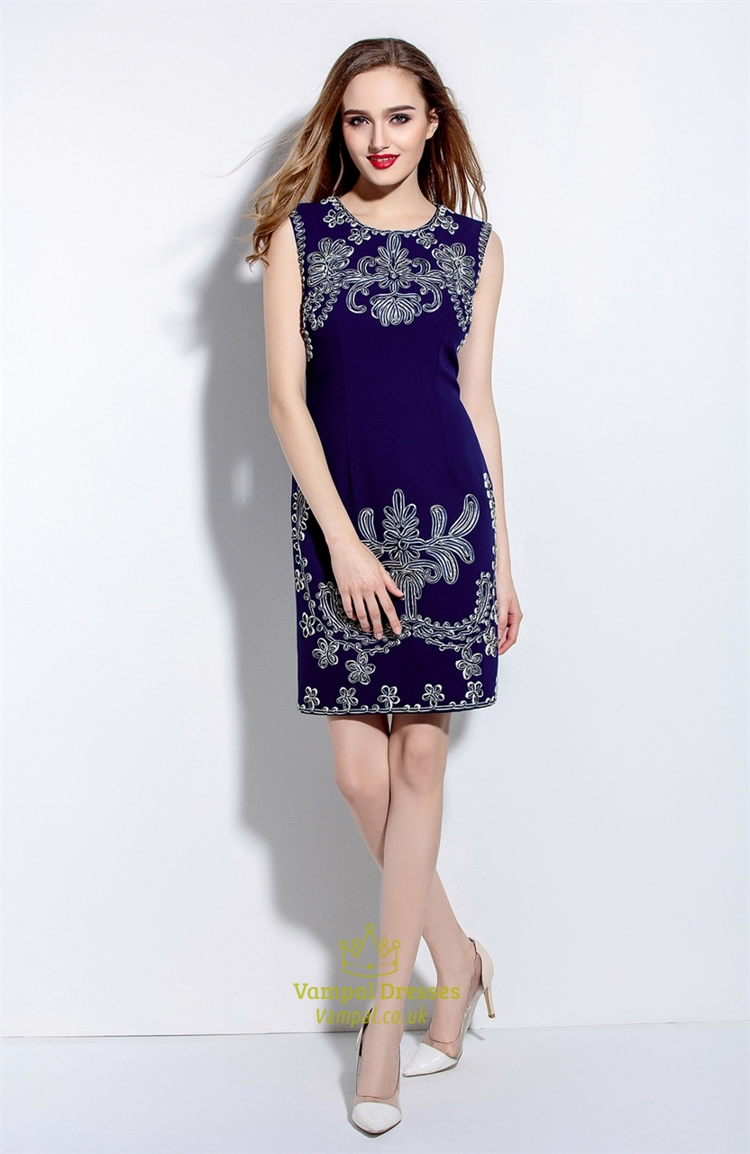 Shop Navy Blue Floral Print Sheath Mini Dress online. Metisu offers Navy Blue Floral Print Sheath Mini Dress & more to fit your fashion needs. Free shipping on orders over $