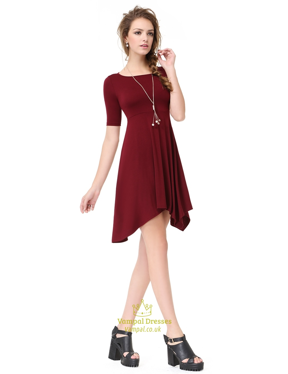 Burgundy clothes for women