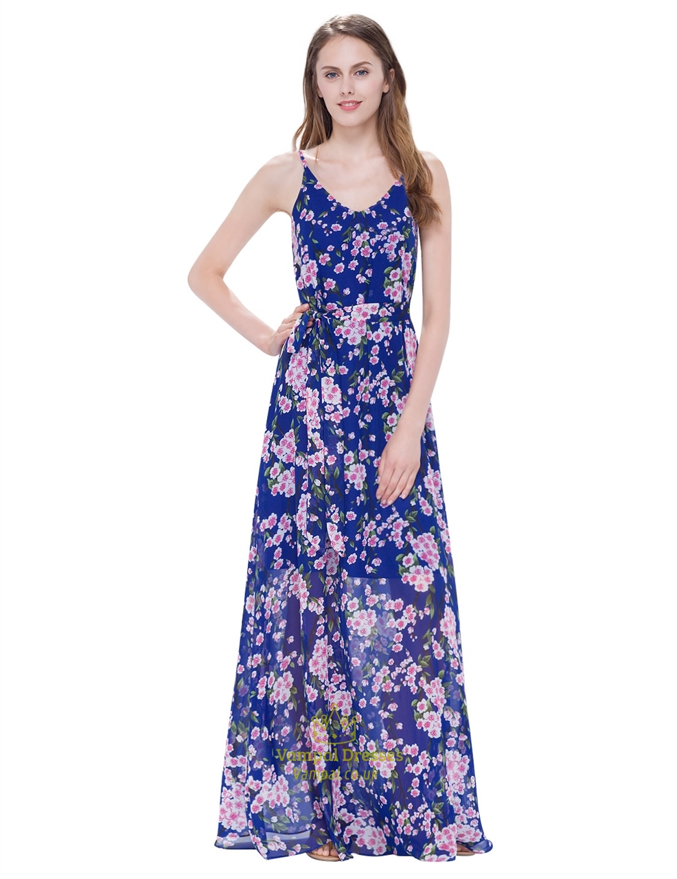 58dc634066 Women S Floral Spaghetti Strap Floor Length Casual Summer Dresses SKU -AP113