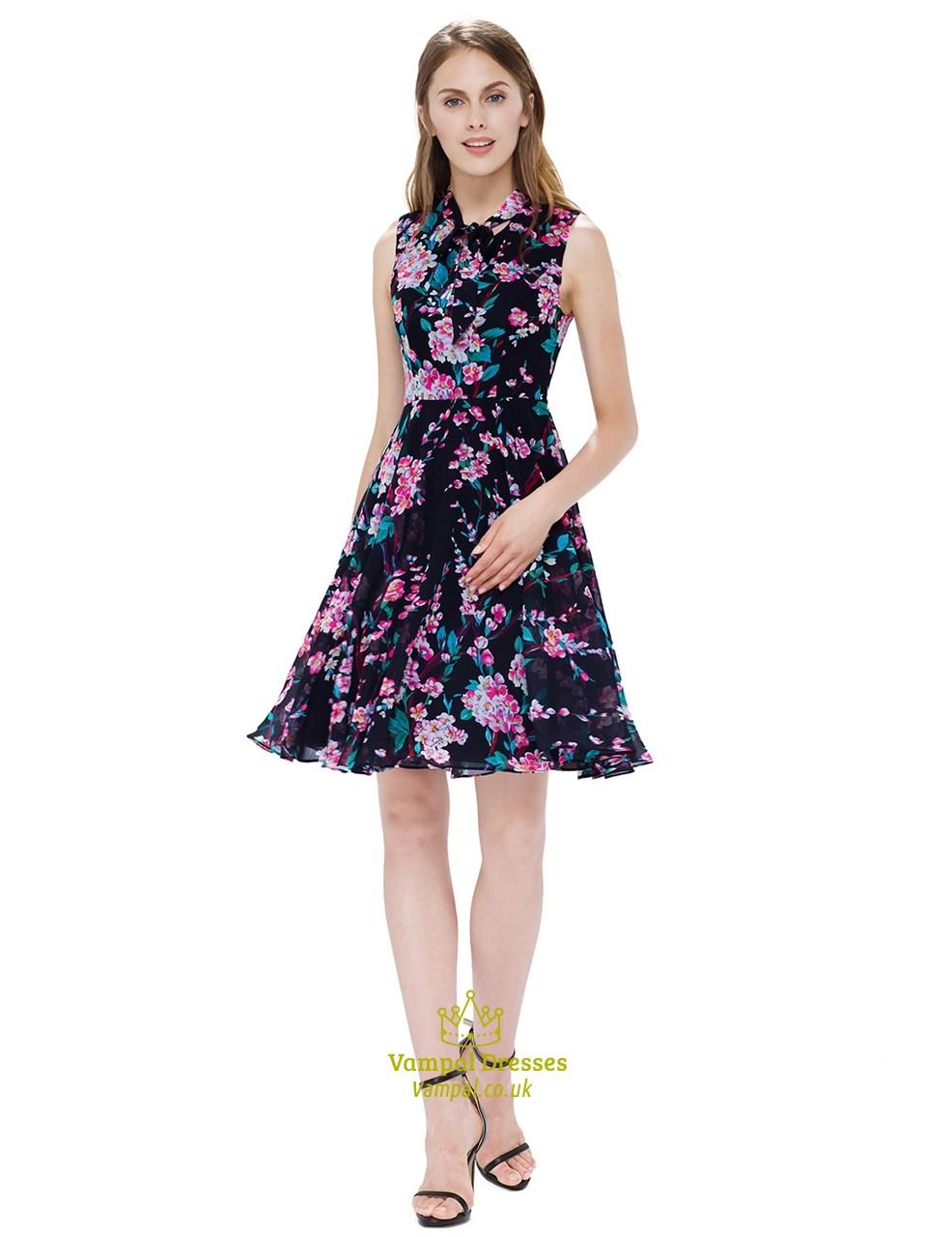A Line Black Summer Dress