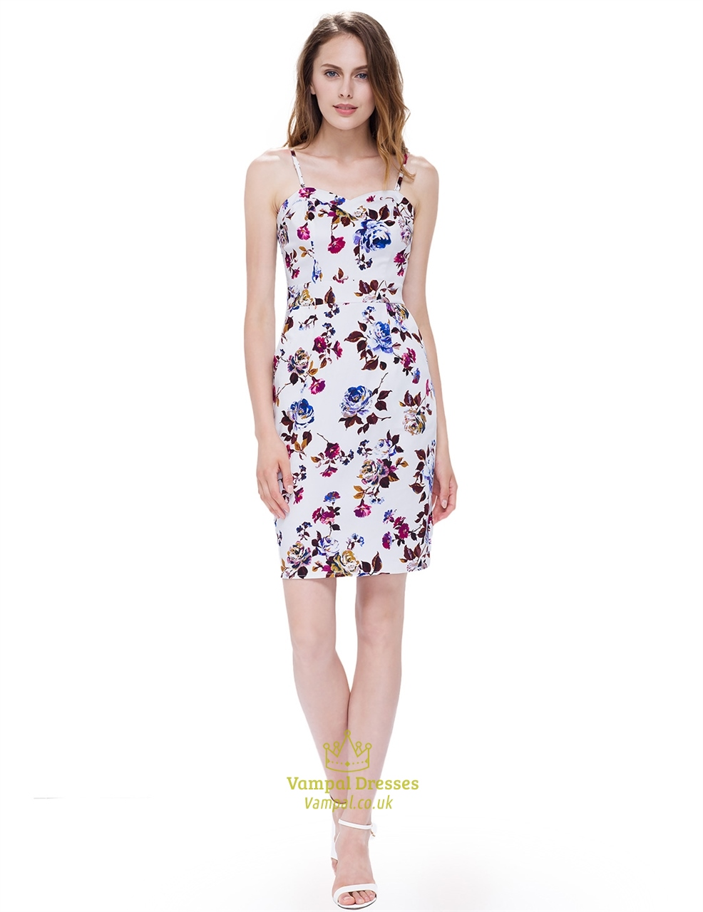 f91b4d58e7db Strapless Sleeveless Floral Bodycon Dress Short With Removable Straps SKU  -AP120