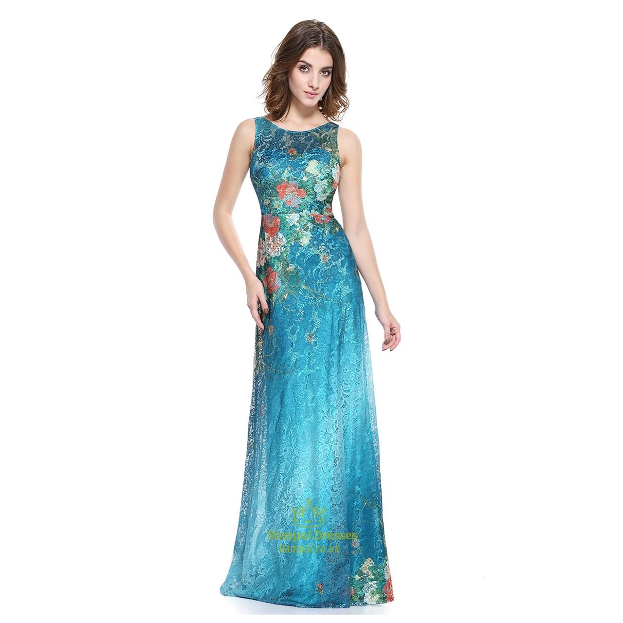 Floor Length Lace Embellished Prom Dress | Vampal Dresses