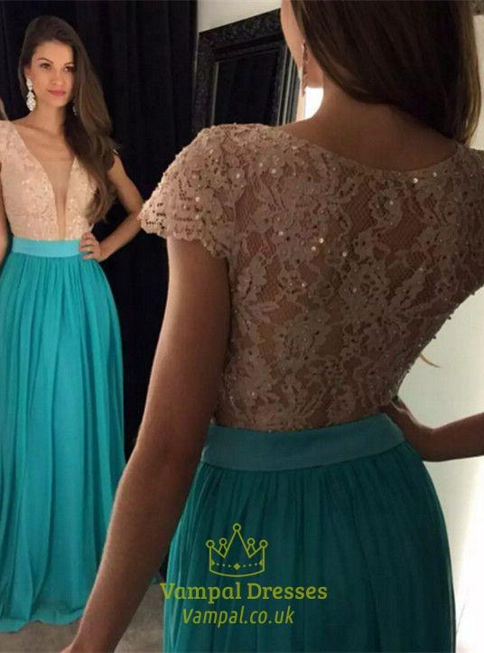 Deep V-Neck Lace Dress