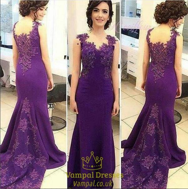 Backless Mermaid Floor Length Prom Dresses