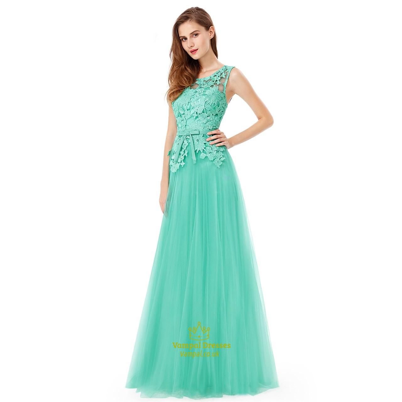 mint green lace bodice chiffon skirt backless long
