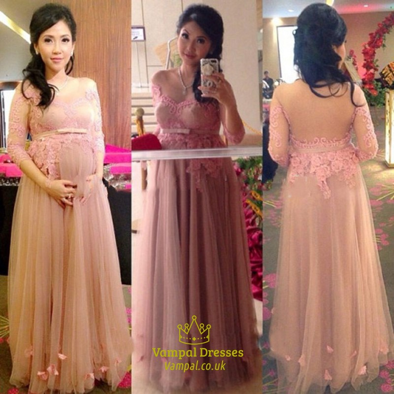 Two Tone Lace Open Back Mermaid Floor Length Prom Dress Vampal Dresses