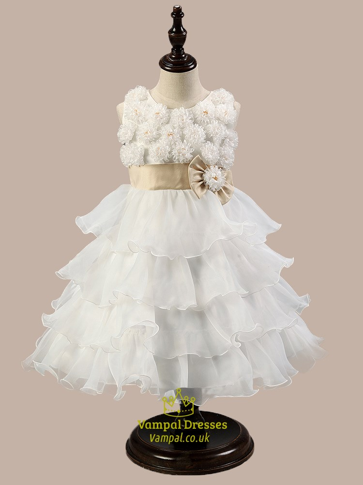 White Ball Gown Flower Girl Dresses 5
