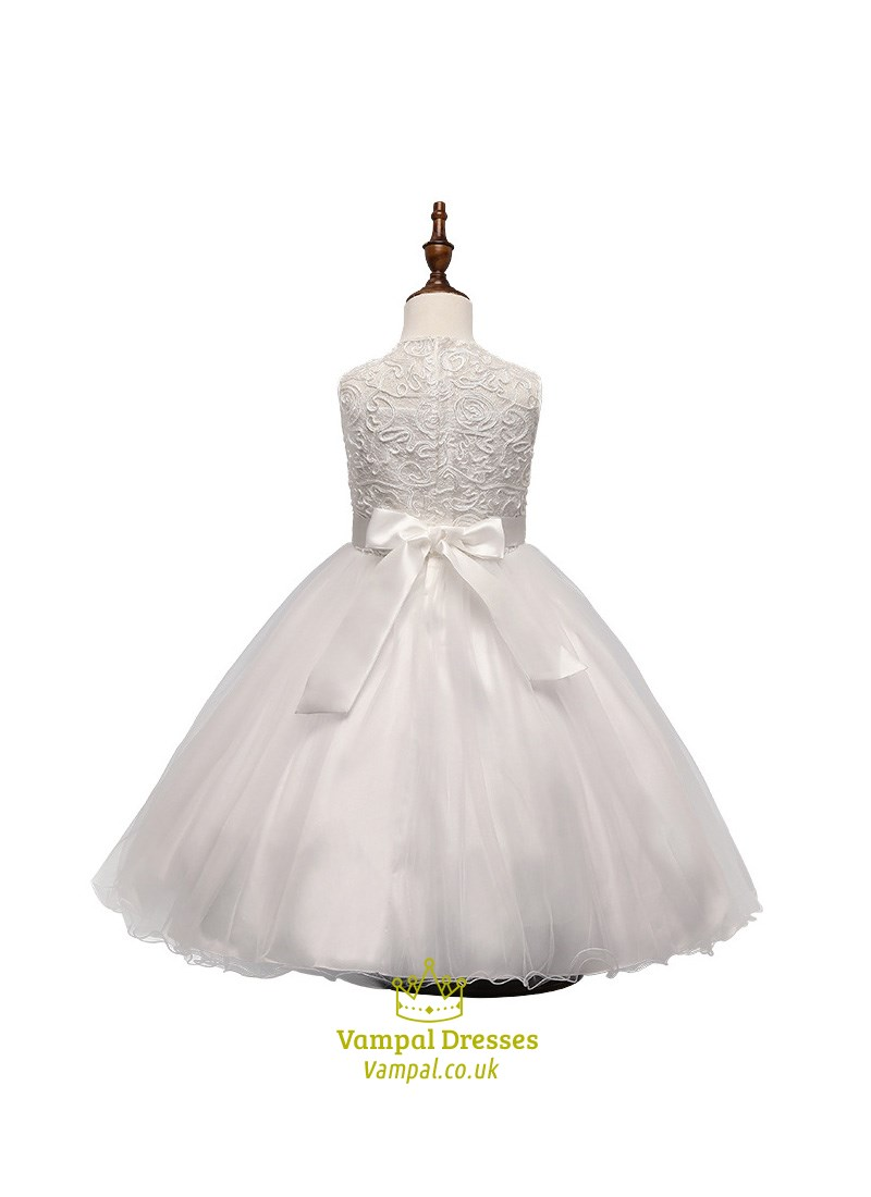 Flower Girl Dresses Tulle Bottom Wedding Dresses Asian