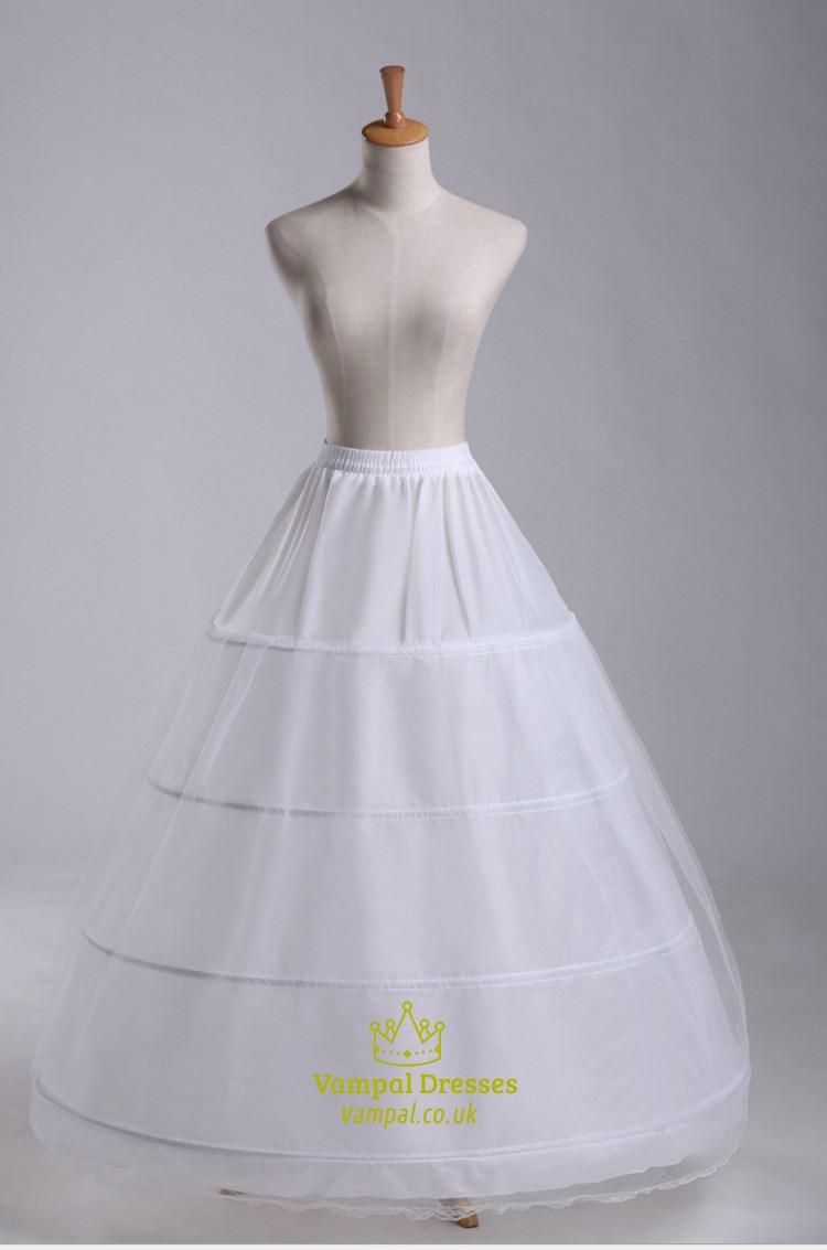 Women Tulle Netting Nylon/Lace Floor Length Ball Gown Petticoat ...