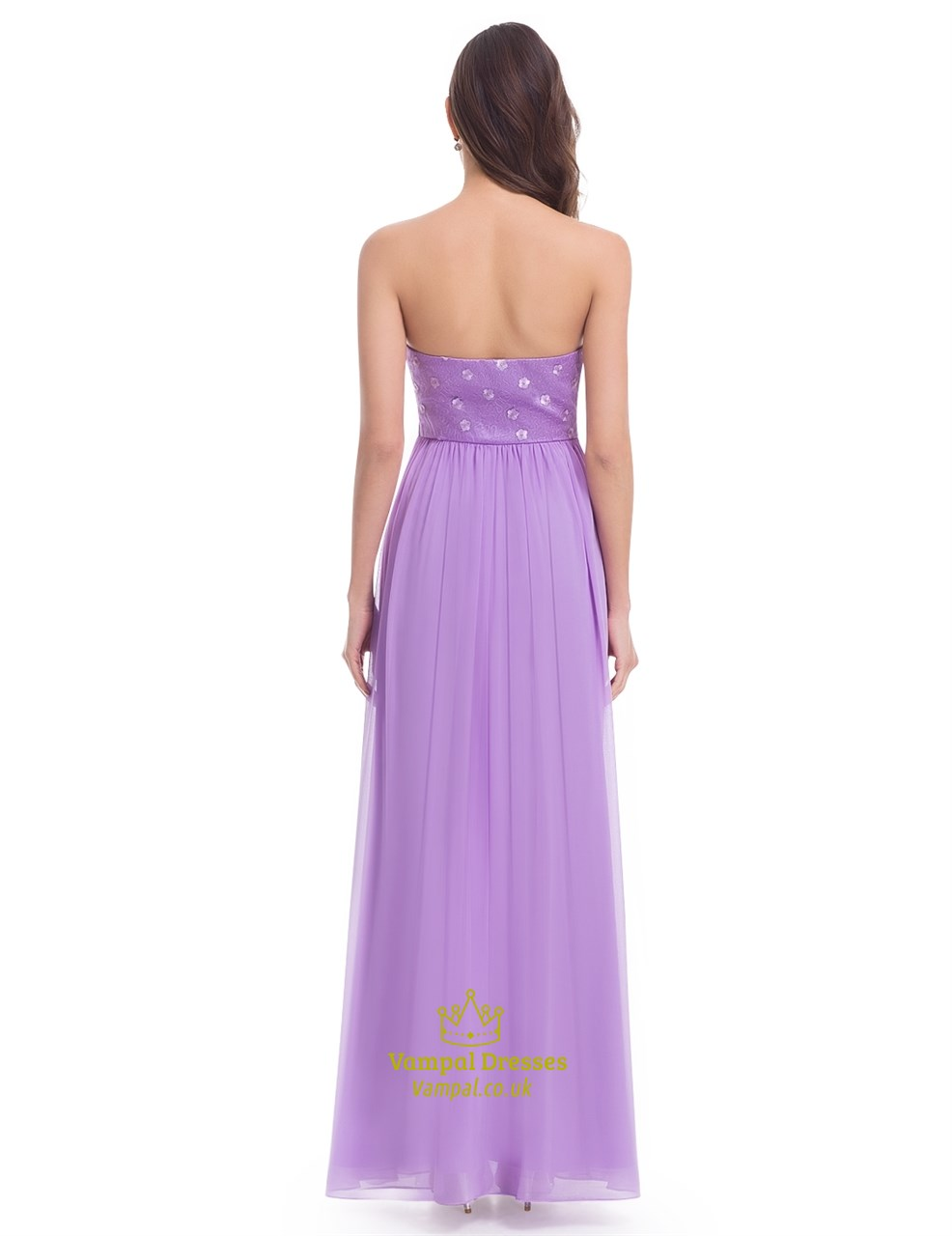 Elegant Lavender Sleeveless Floor Length Chiffon Bridesmaid Dress ...