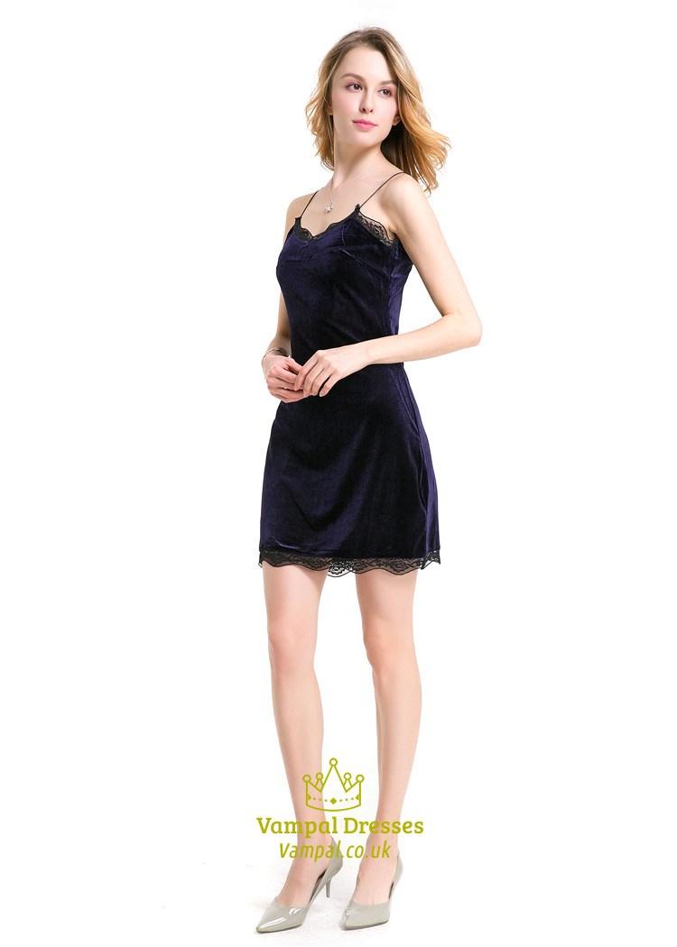 Purple Spaghetti Strap Open Back Short Bodycon Dress With